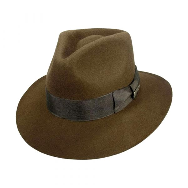 PRE-ORDER: Harrison Ford Signed Indiana Jones Officially Licensed Brown Wool Felt Fedora Hat-0