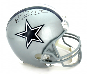 "Michael Irvin Autographed/Signed Dallas Cowboys Riddell Full Size NFL Helmet with ""Playmaker"" Inscription-0"