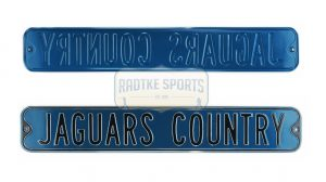 "Jacksonville Jaguars ""Jaguars Country"" Officially Licensed Authentic Steel 36x6 Teal & Black NFL Street Sign-0"