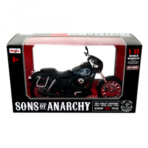 Sons of Anarchy Officially Licensed Maisto Jax Teller Harley Davidson Dyna Super Glide Sport Motorcycle Toy-0