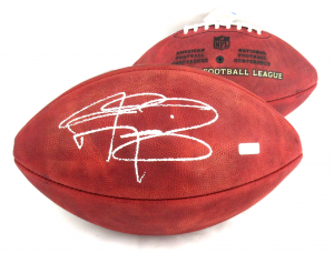 Johnny Manziel Signed Authentic Wilson Football - Panini-0