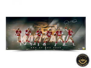 "Joe Montana Signed ""Art of the Pass"" 36x15 Photo - LE-0"