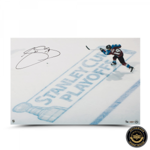 Joe Sakic Signed Playoff Hockey 16x24 Photo-0