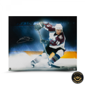 "Joe Sakic Signed ""Stop on a Dime"" 16x20 Photo-0"