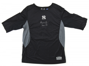 Andruw Jones Signed New York Yankees Nike Dri-Fit Game Used Shirt - L-0