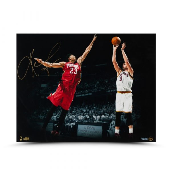 "28bbd88c91a Kevin Love Signed Cleveland Cavaliers 16×20 ""Corner Jumper"" Photo ..."