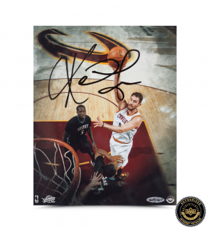 "Kevin Love Signed Cleveland Cavaliers 8x10 ""Over the Top"" Photo-0"