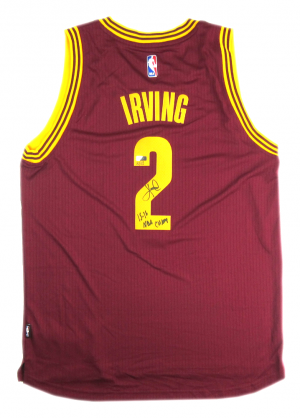Kyrie Irving Signed Cleveland Cavaliers Adidas Red Swingman NBA Jersey - LE - Panini-0