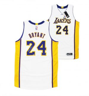 Kobe Bryant Signed Los Angeles Lakers White 2014 Adidas Authentic NBA Jersey - Panini-0