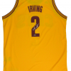 Kyrie Irving Signed Cleveland Cavaliers Yellow Adidas Swingman NBA Jersey - Panini-12673