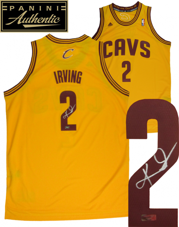 Kyrie Irving Signed Cleveland Cavaliers Yellow Adidas Swingman NBA Jersey - Panini-0