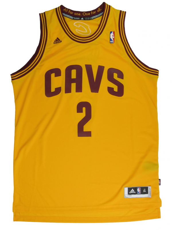 Kyrie Irving Signed Cleveland Cavaliers Yellow Adidas Swingman NBA Jersey - Panini-12671