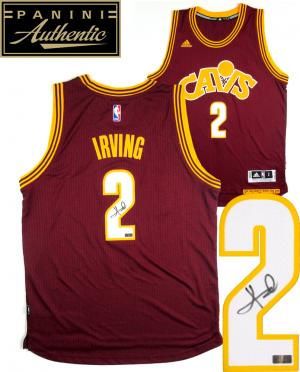 Kyrie Irving Signed Cleveland Cavaliers Adidas Swingman Red Alternate NBA Jersey - Panini-0