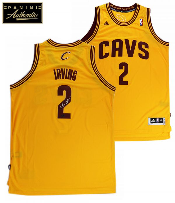 Kyrie Irving Signed Cleveland Cavaliers Adidas Swingman Yellow NBA Jersey - Panini-0