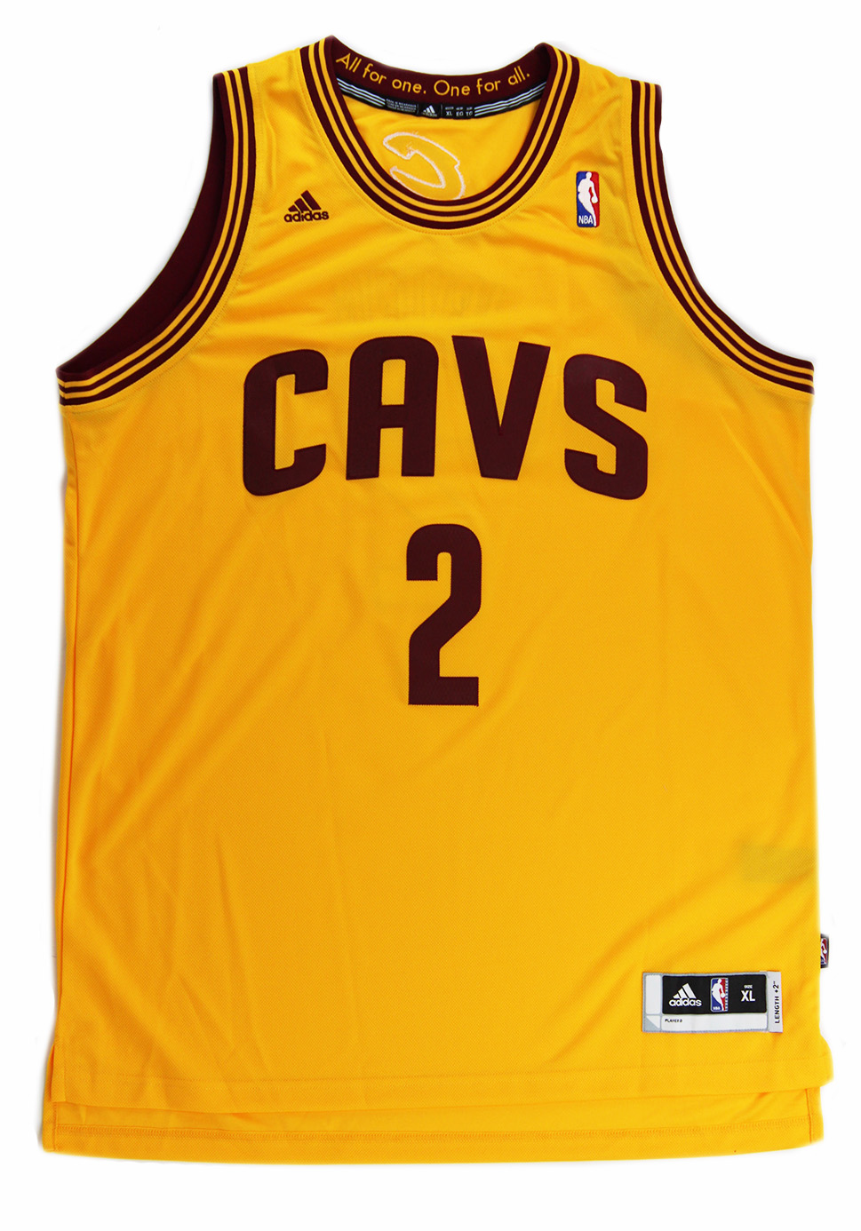 ebe795a497ba4 Kyrie Irving Signed Cleveland Cavaliers Adidas Swingman Yellow NBA Jersey -  Panini-17267 ...