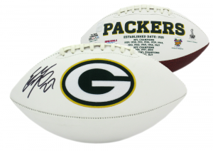 Eddie Lacy Signed Green Bay Packers Embroidered NFL Logo Football-0