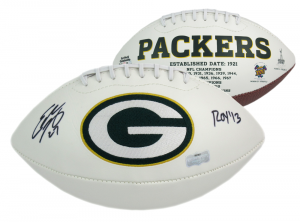 "Eddie Lacy Signed Green Bay Packers NFL Logo Football with ""ROY 13"" Inscription-0"