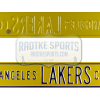 Los Angeles Lakers Court Officially Licensed Authentic Steel 36x6 Purple & Yellow NBA Street Sign-0