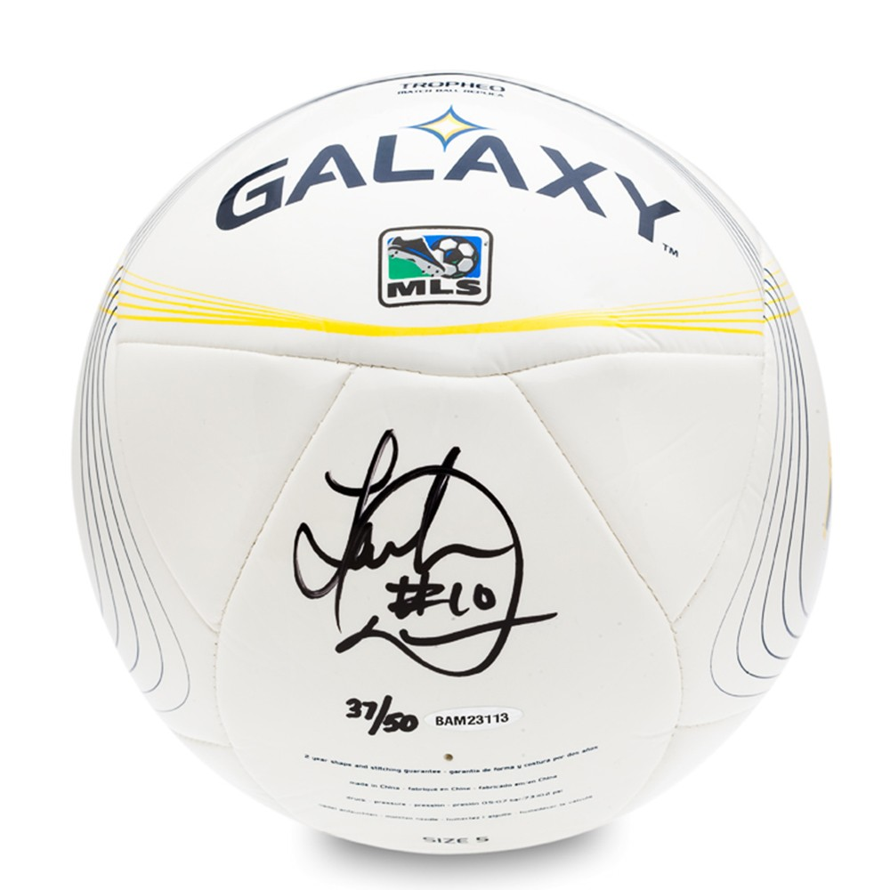 b2aae8fff48 Landon Donovan Signed LA Galaxy ADIDAS Tropheo Replica Match Soccer  Ball-13883 ...