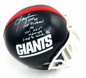 Lawrence Taylor Signed New York Giants Throwback Full Size Helmet with 4 Career Stat Inscription - LE #1/56-0