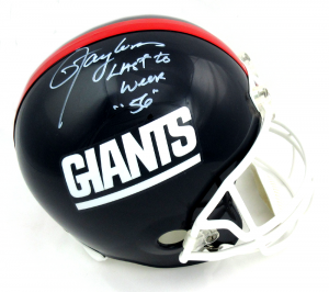 """Lawrence Taylor Signed New York Giants Throwback Full Size Helmet with """"Last to Wear 56"""" Inscription - LE #56/56-0"""