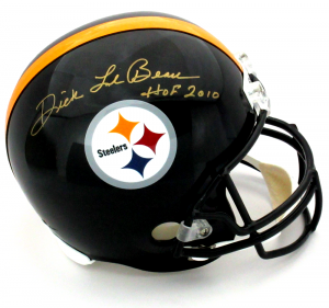 "Dick LeBeau Signed Pittsburgh Steelers Riddell Full Size Helmet with ""HOF 2010"" Inscription - Gold Ink-0"