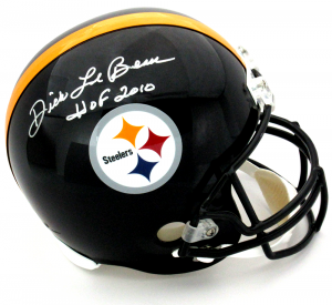 "Dick LeBeau Signed Pittsburgh Steelers Riddell Full Size Helmet with ""HOF 2010"" Inscription - Silver Ink-0"