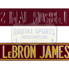 LeBron James Court Officially Licensed Authentic Steel 36x6 Maroon & Yellow NBA Street Sign-0