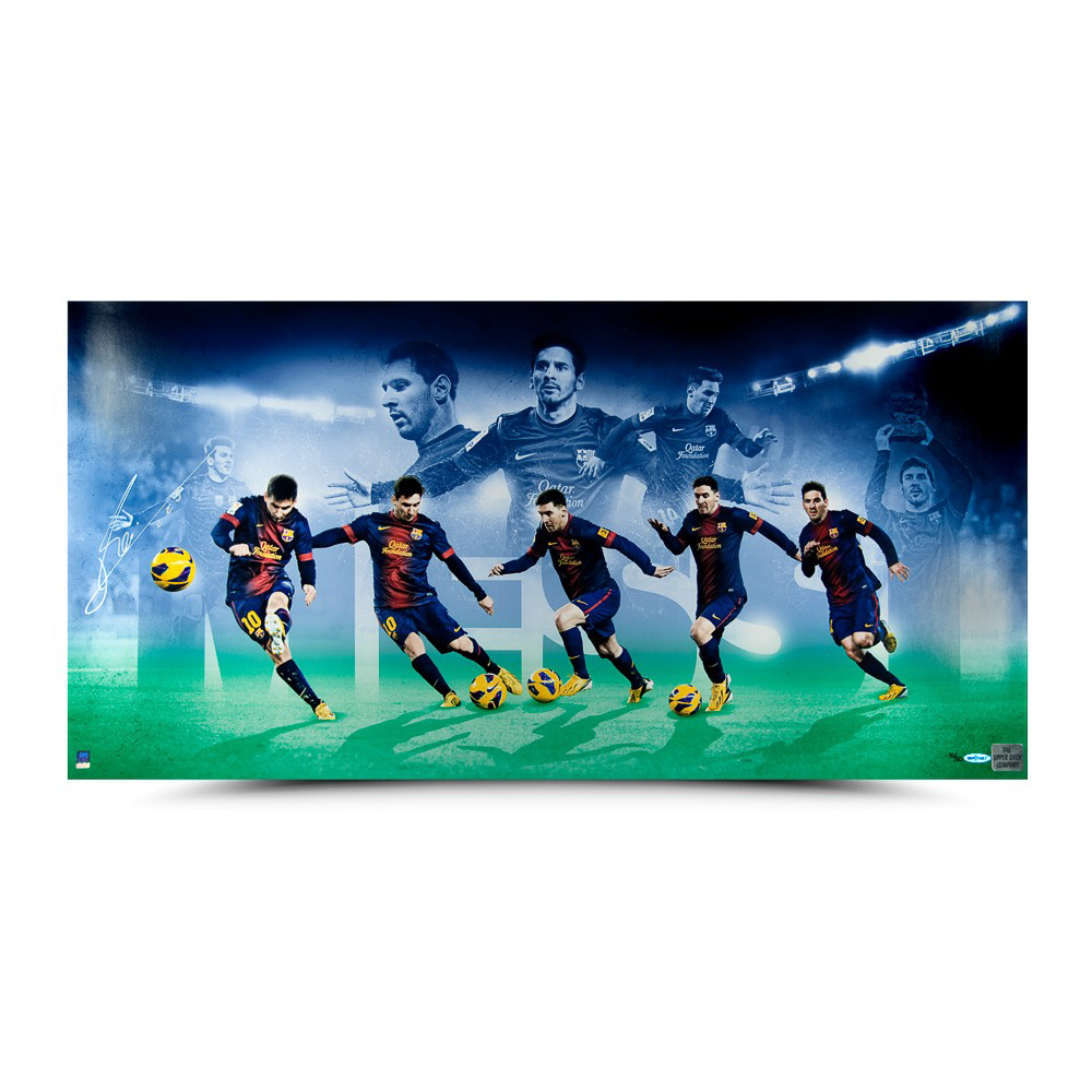 0fd6d07a1 Lionel Messi Signed Limited Edition Image Collage -