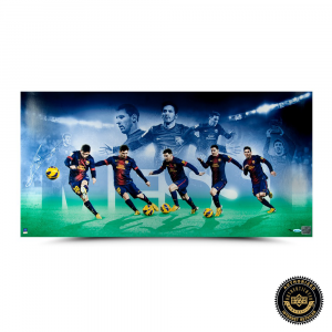 "Lionel Messi Signed Limited Edition Image Collage - ""Arrival"" - UDA-0"
