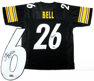 LeVeon Bell Signed Pittsburgh Steelers Black Custom Jersey-0