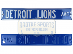 Detroit Lions Avenue Officially Licensed Authentic Steel 36x6 Blue & Silver NFL Street Sign-0
