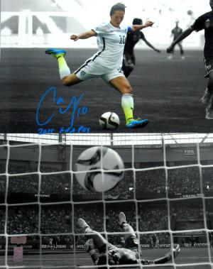 "Carli Lloyd Signed US Women's Soccer 16x20 Spotlight Photo with ""2015 FIFA POY"" Inscription-0"