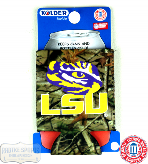 LSU Tigers Officially Licensed 12oz Neoprene Can Koozie - Camo-0