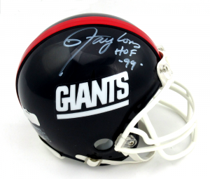 "Lawrence Taylor Signed New York Giants Throwback Mini Helmet with ""HOF 99"" Inscription-0"