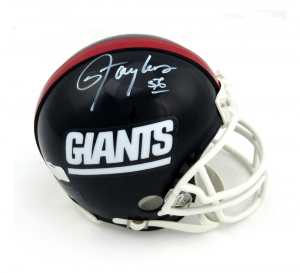 Lawrence Taylor Signed New York Giants Throwback Mini Helmet-0