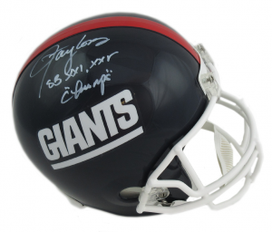 """Lawrence Taylor Signed New York Giants Throwback Full Size Helmet with """"SB Champs"""" Inscription-0"""