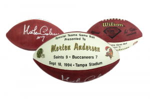 Morten Andersen Signed Authentic Commemorative Game Football - New Orleans Saints 9.18.94-0