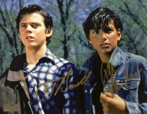 Ralph Macchio &amp C. Thomas Howell Autographed/Signed The Outsiders 8x10 Photo withStay Gold Inscription-0