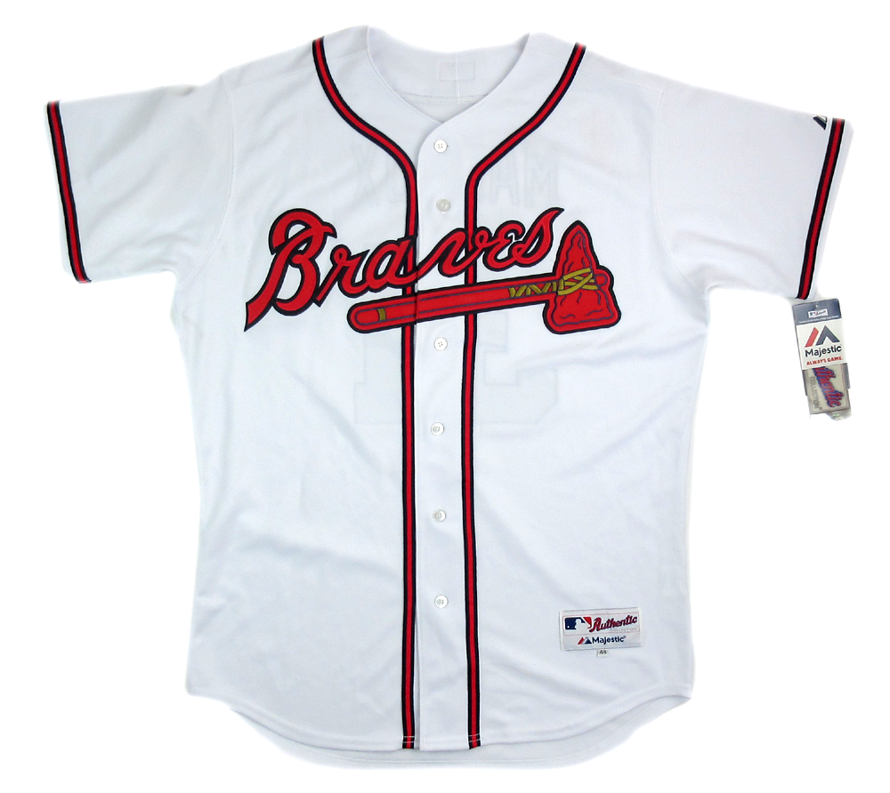 timeless design 1cd1f 6a2e7 Greg Maddux Signed Atlanta Braves Majestic Authentic MLB Jersey with 3  Career Stats Inscription - #3