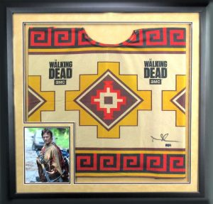 "Norman Reedus ""Daryl Dixon"" Signed Framed Officially Licensed The Walking Dead Poncho-22394"