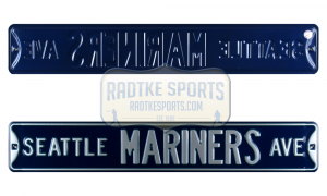 Seattle Mariners Avenue Officially Licensed Authentic Steel 36x6 Blue & Green MLB Street Sign-0