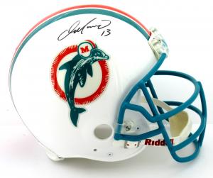 Dan Marino Signed Miami Dolphins Riddell Throwback Authentic NFL Helmet - Fanatics-0