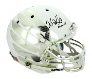 "Marcus Mariota Signed Oregon Ducks Schutt Full Size White Vapor Helmet with ""Heisman 14"" Inscription-0"
