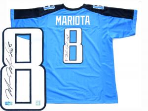 Marcus Mariota Signed Tennessee Titans Blue Custom Jersey-0