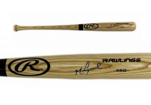 Mark Grace Signed Chicago Cubs Rawlings Official MLB Blonde Bat-0