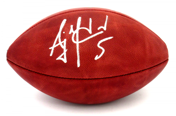 AJ McCarron Signed Cincinnati Bengals Wilson Authentic NFL Football-10177