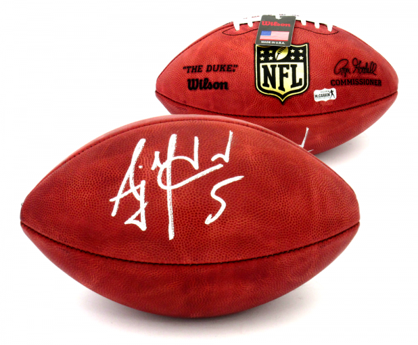 AJ McCarron Signed Cincinnati Bengals Wilson Authentic NFL Football-0