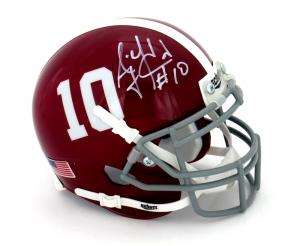 AJ McCarron Signed Alabama Crimson Tide Schutt #10 Mini Helmet-0
