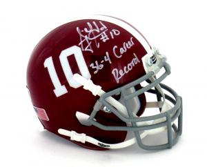 "AJ McCarron Signed Alabama Crimson Tide Schutt #10 Mini Helmet with ""36-4 Career Record"" Inscription-0"